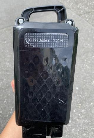 パナソニックの電動自転車のバッテリー 12Ah