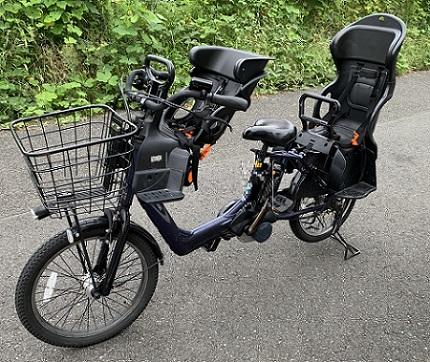 パナソニック製ギュットアニーズ-前後幼児2名乗せ電動自転車