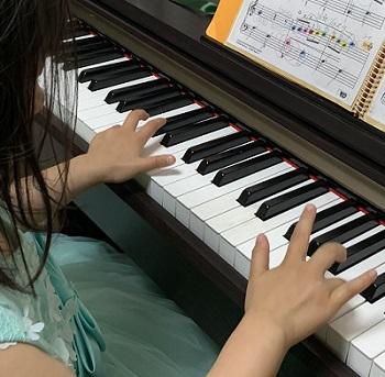 子どものピアノ練習