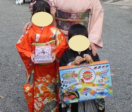 子安神社の七五三で選んだおもちゃ