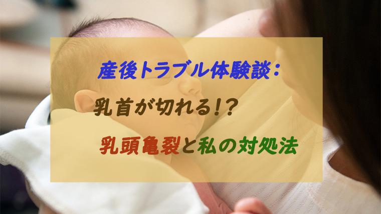 乳首の怪我、乳頭亀裂と私の対応(産後トラブル体験談)