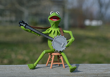 カエルが歌う写真 童謡のメリット(ブログ)