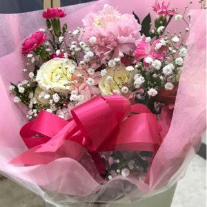 フジテレビフラワーネットで近所の花屋さんに実際に届けてもらった花束