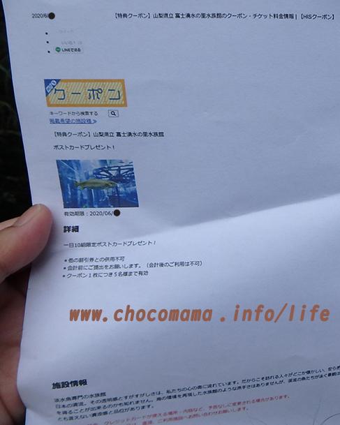 森の中の水族館。(山梨県の富士湧水の里水族館)HISクーポンとポストカードに変換