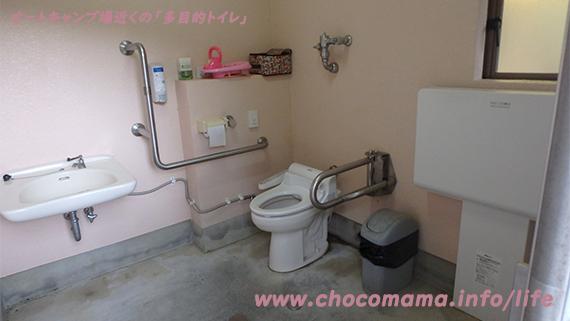 緑の休暇村青根キャンプ場のトイレ写真(神奈川県)