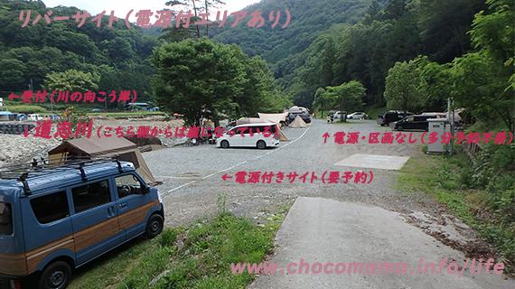 緑の休暇村青根キャンプ場のリバーサイトの写真(神奈川県)