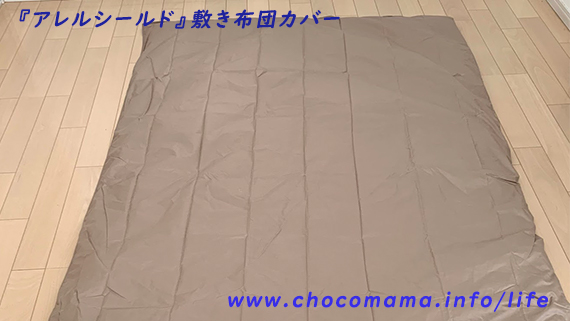 アレルシールドの敷き布団カバーを使用中。(ダニアレルギークラス6のアレルギーっ子と効果実感)