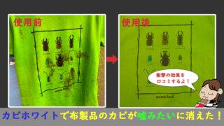 カビホワイトの効果口コミ記事(衣類、布製品、レースカーテン)