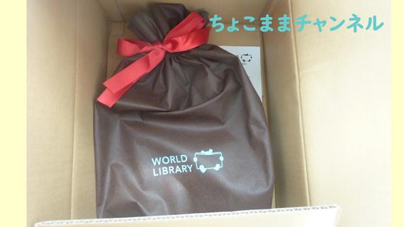 ワールドライブラリーの赤ちゃん絵本3冊セットのダンボール梱包とギフトバッグ