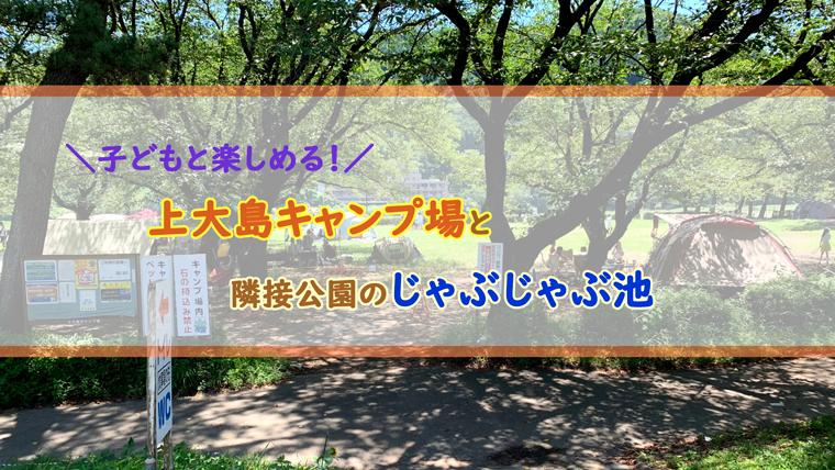 上大島キャンプ場と自然の村公園のじゃぶじゃぶ池ブログ
